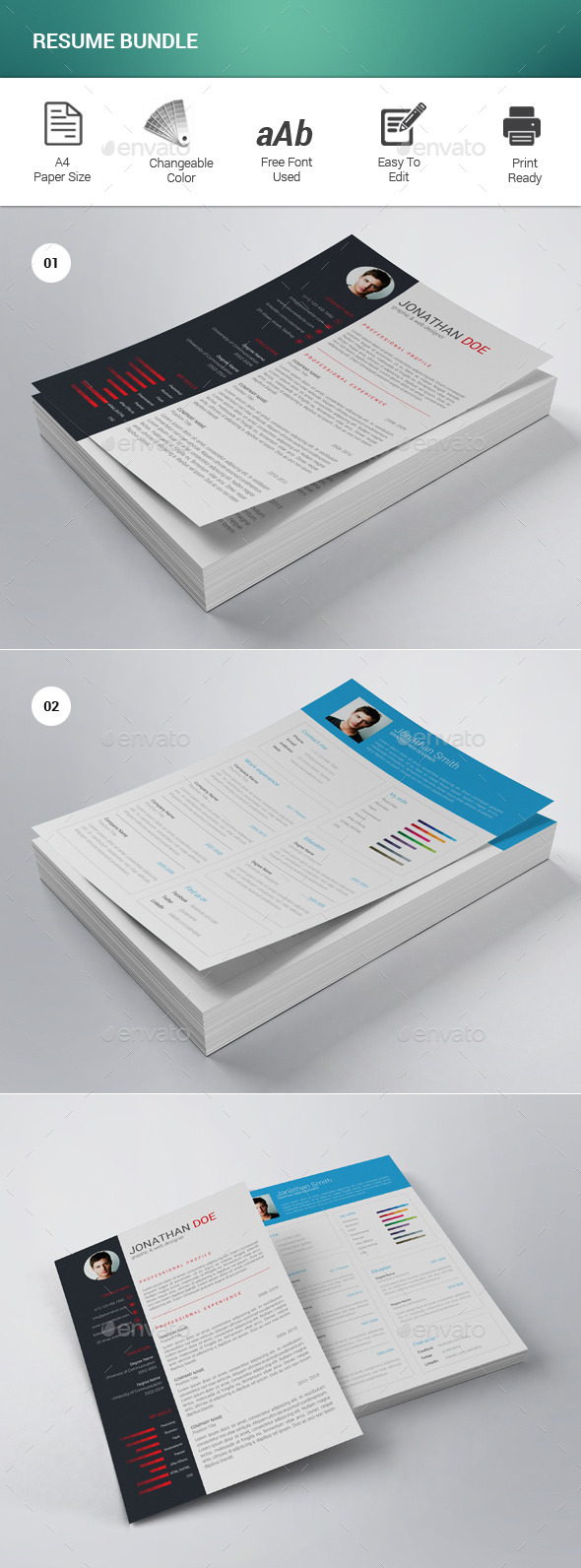 GraphicRiver Resume Bundle 11785882