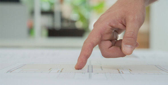 Hands Of An Architect Pointing