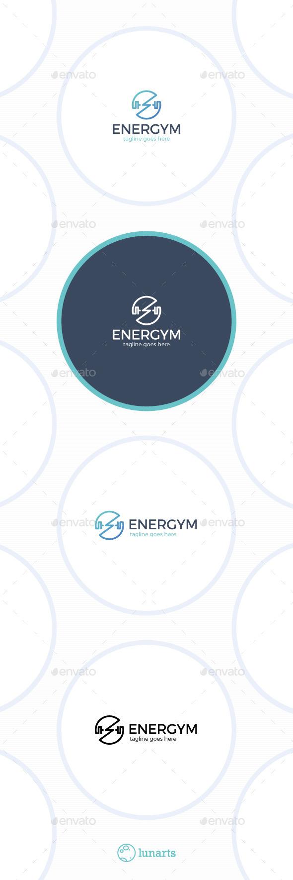 GraphicRiver Energy Gym Logo Power Circle 11786070