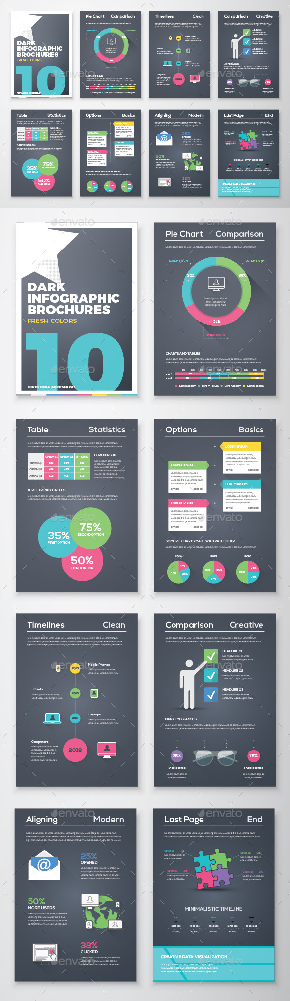 Infographic Brochure Vector Elements Kit 10