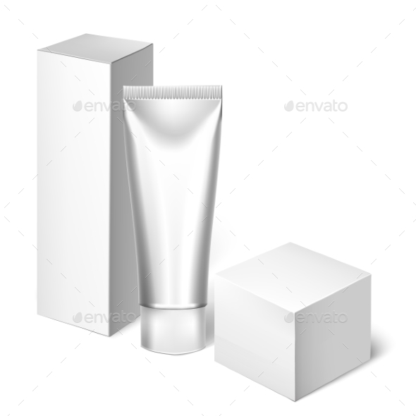 GraphicRiver Blank Cosmetics Packages Tube Template 11786094