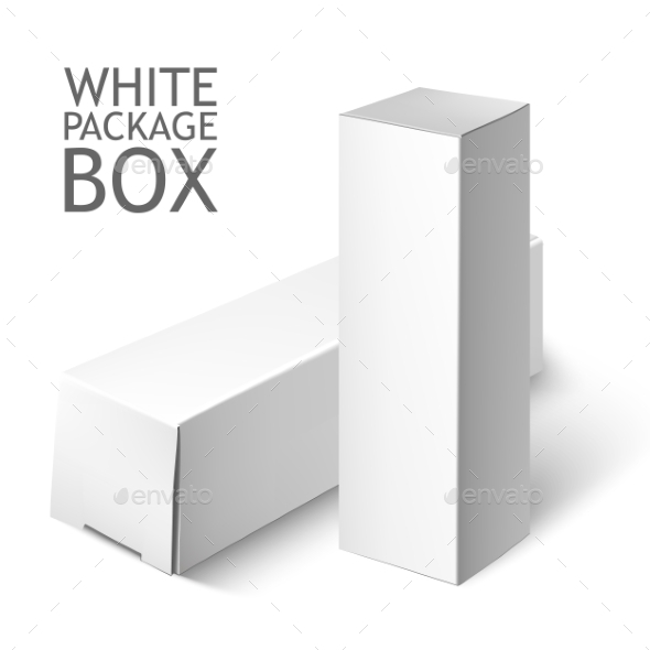 GraphicRiver Set Of White Package Box Mockup Template 11786107