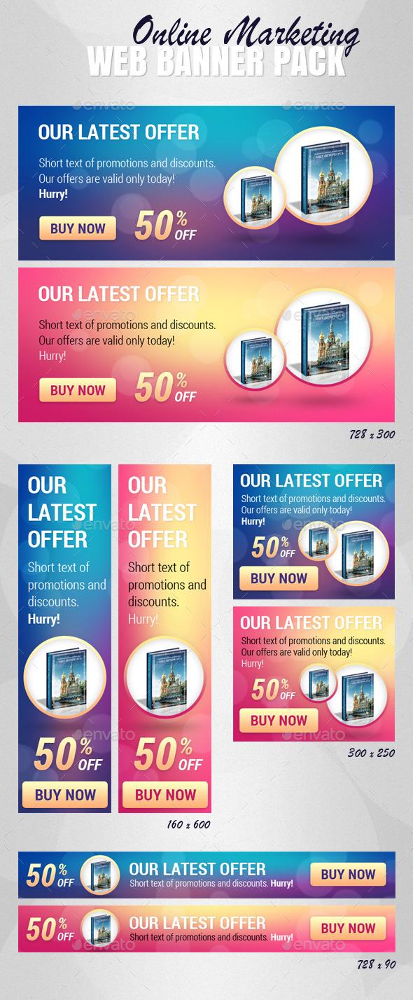 GraphicRiver Online Marketing Web Banner Pack 11786742