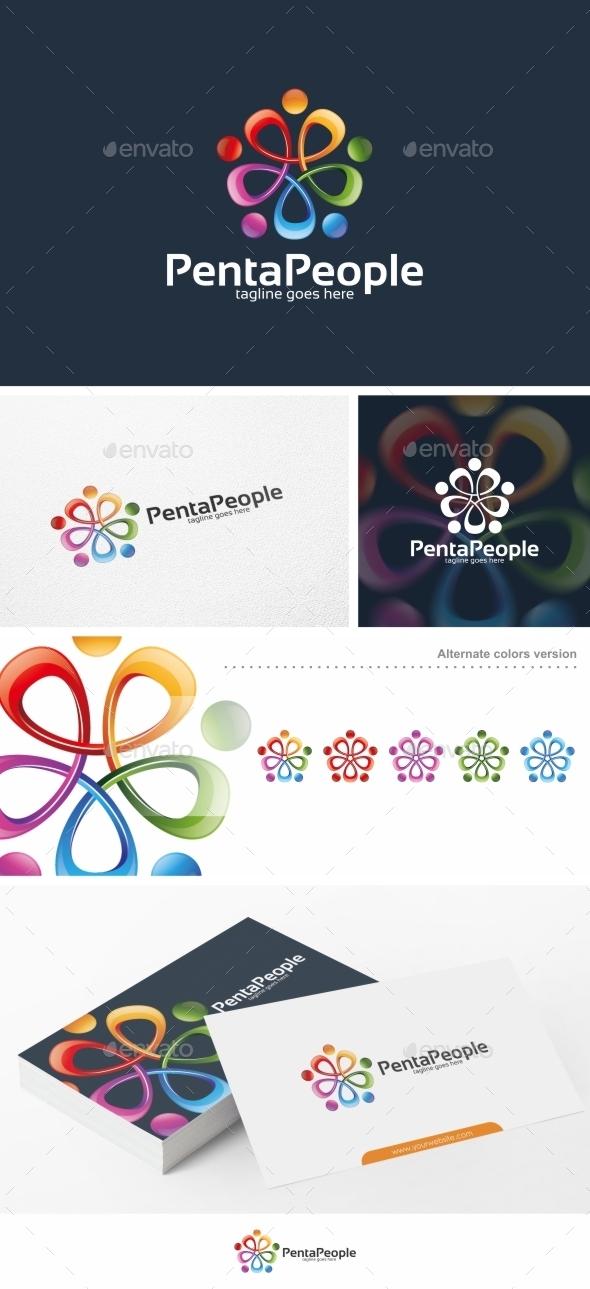GraphicRiver Penta People Logo Template 11786769