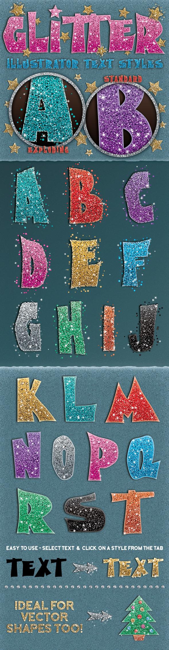 GraphicRiver Glitter Styles 11786774