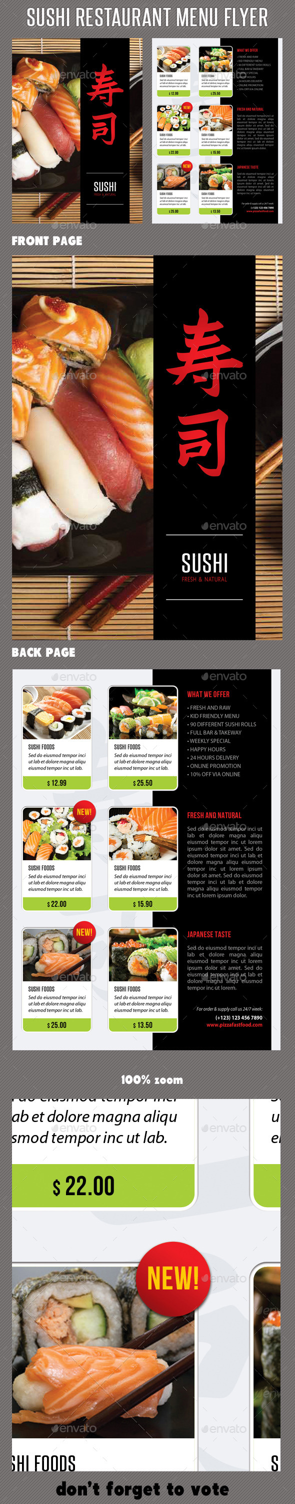 GraphicRiver Sushi Restaurant Menu Flyer V05 11786844