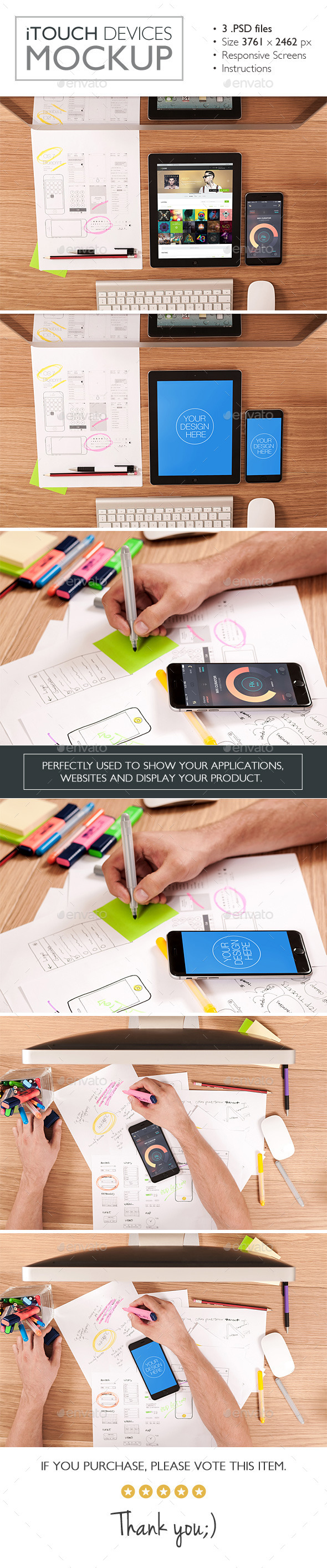 GraphicRiver iTouch Devices Mockup 11786874