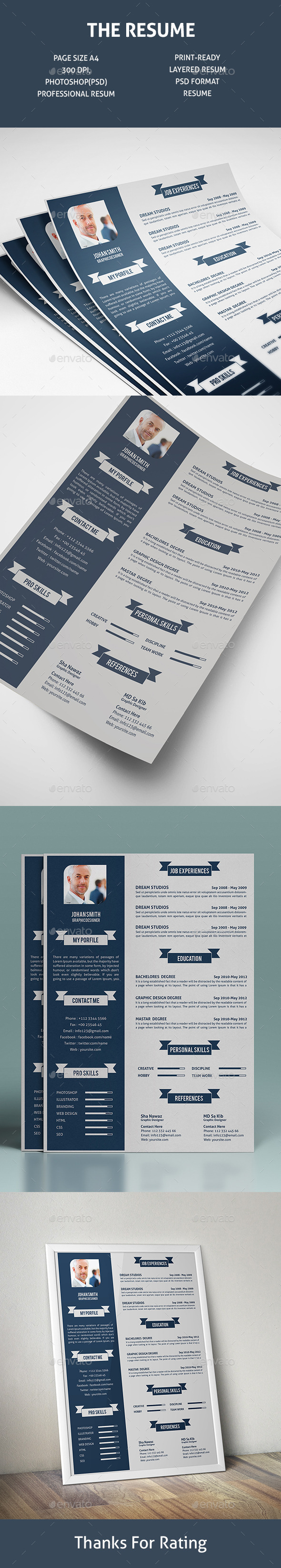 GraphicRiver The Resume V-1 11783494