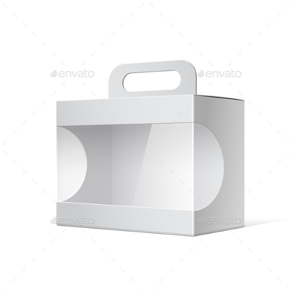 GraphicRiver Package Cardboard Box with a Handle 11786915