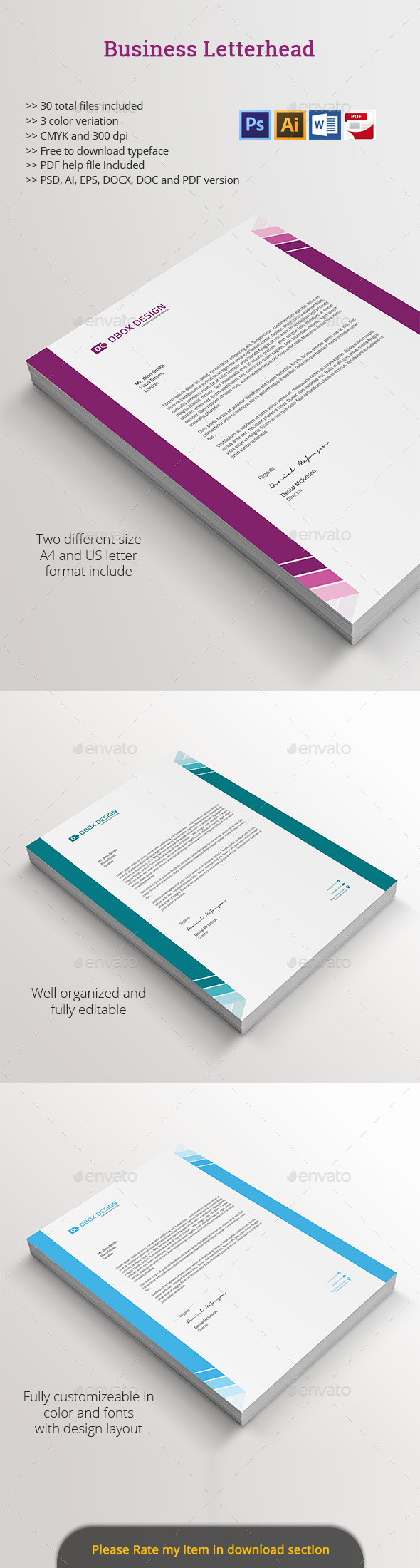 GraphicRiver Business Letterhead 11787067