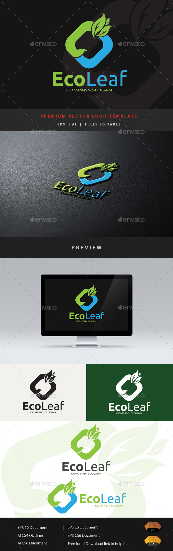 GraphicRiver Eco Leaf 11787192