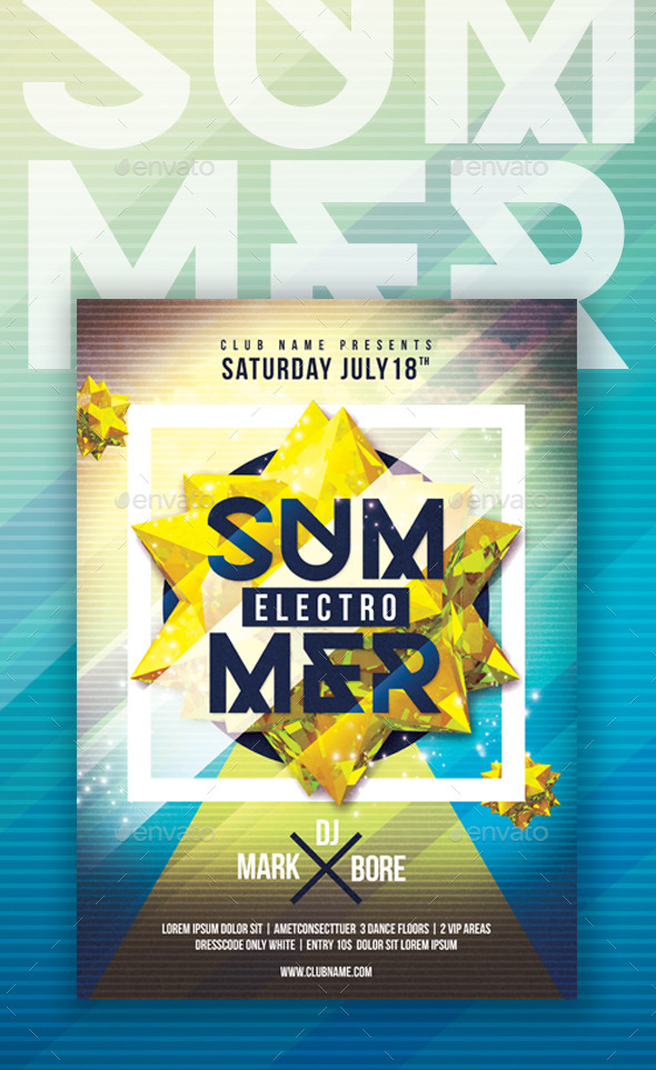 GraphicRiver Summer Electro 11787196