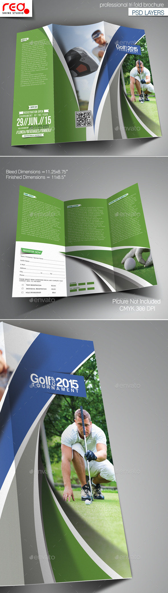 GraphicRiver Golf Cup Tournament Trifold Brochure Template 4 11787287
