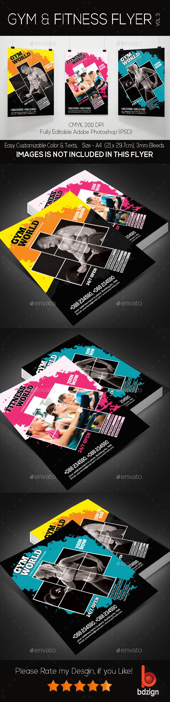 Gym and Fitness Flyer -Vol3