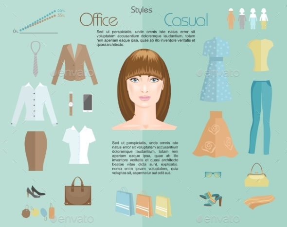 GraphicRiver Woman Clothing Styles Infographics 11787587