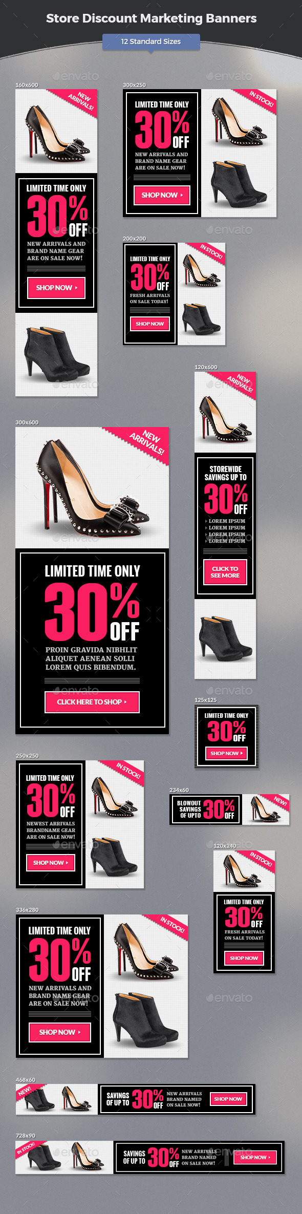 GraphicRiver Store Discount Marketing Banners 11787631