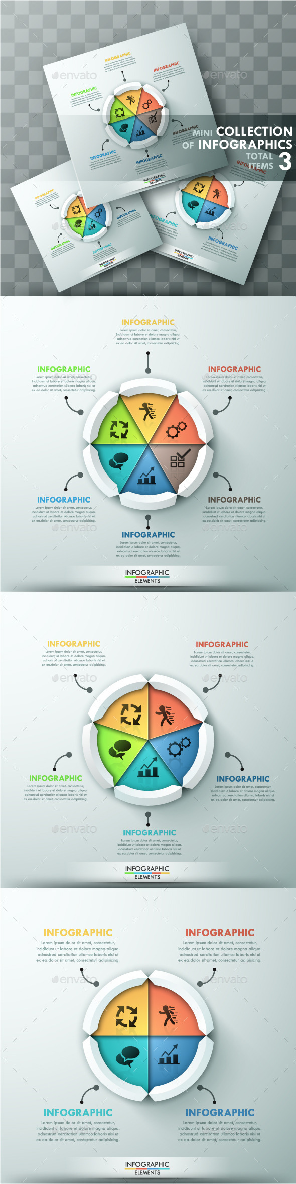 GraphicRiver Modern Infographic Cycle Templates 3 Items 11787893