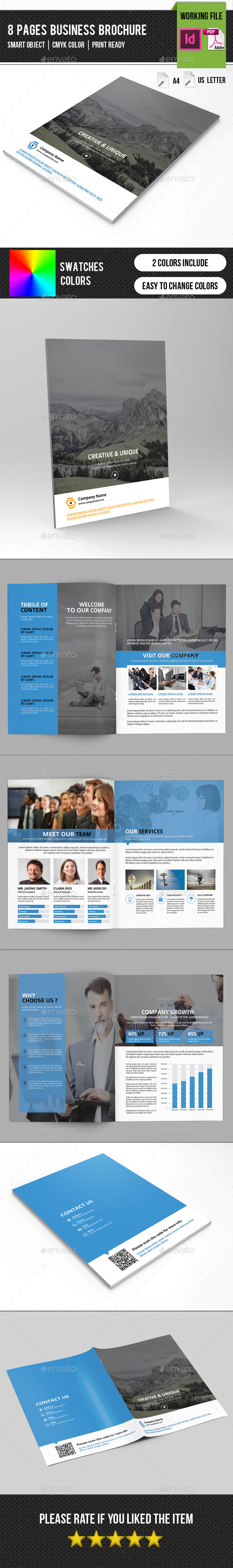 GraphicRiver Corporate Brochure 8 Pages-V259 11787984