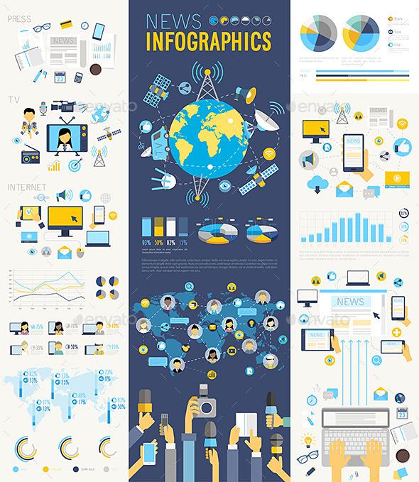 GraphicRiver News Infographic Set 11787990