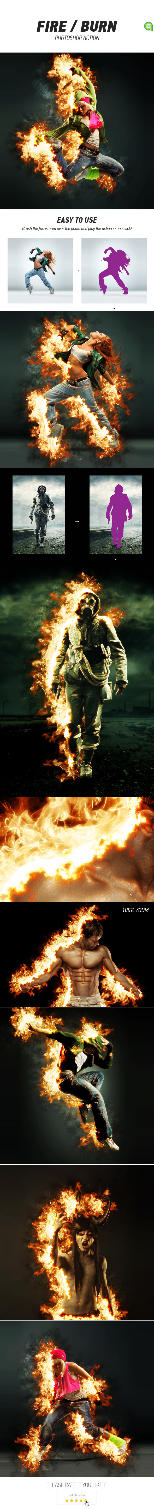 GraphicRiver Fire Burn Photoshop Action 11779279