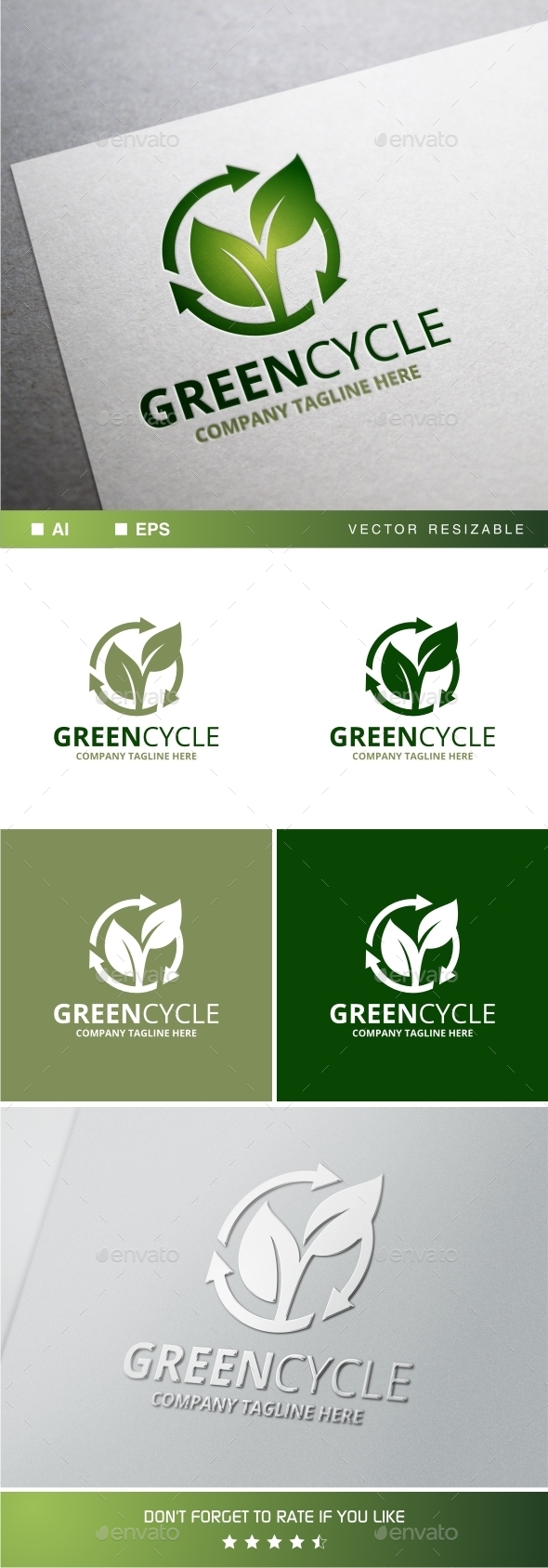 GraphicRiver Greencycle Logo Template 11788307