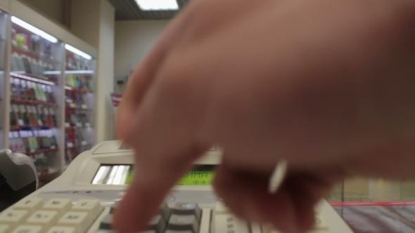 Typing On Cash Register 98