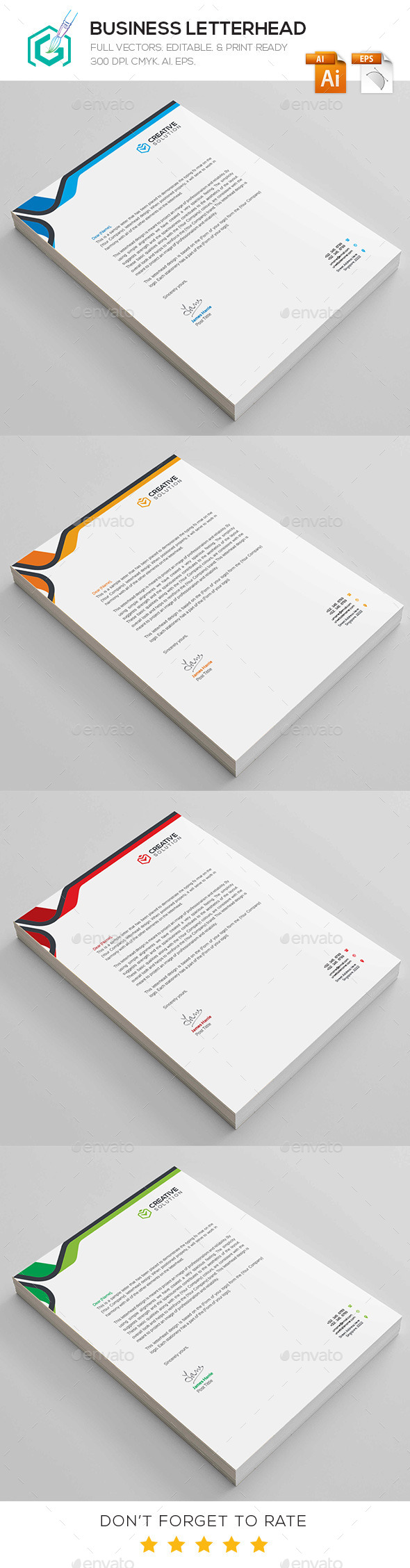 GraphicRiver Business Letterhead 11788752
