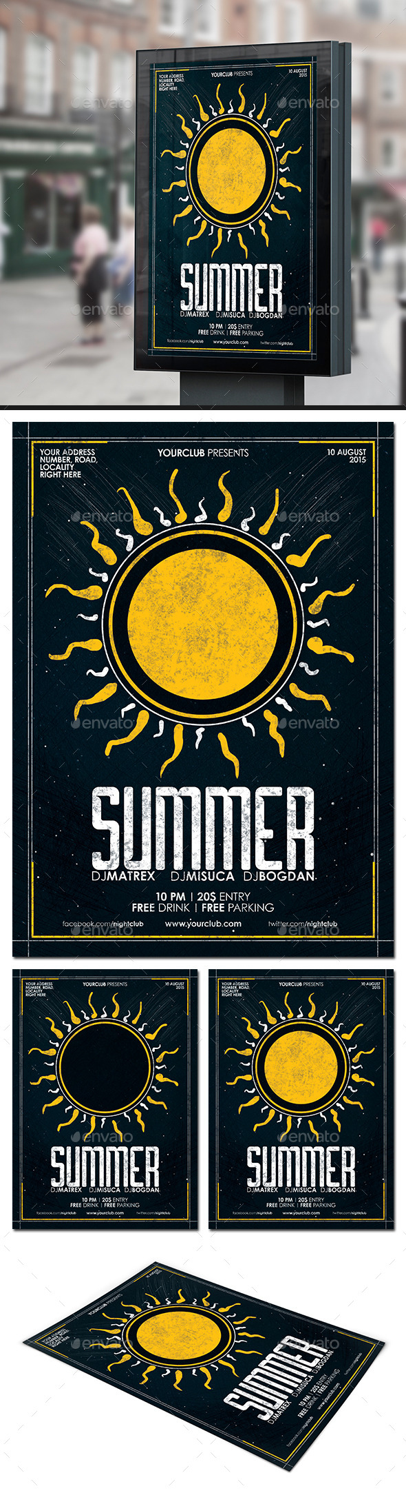 GraphicRiver Summer Party Flyer Poster 11788918