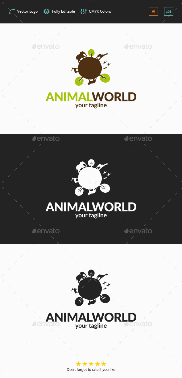 GraphicRiver Animal World Logo 11788956