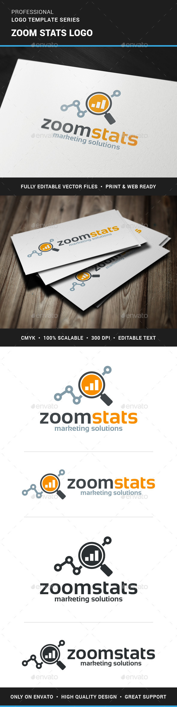 GraphicRiver Zoom Stats Logo Template 11789038
