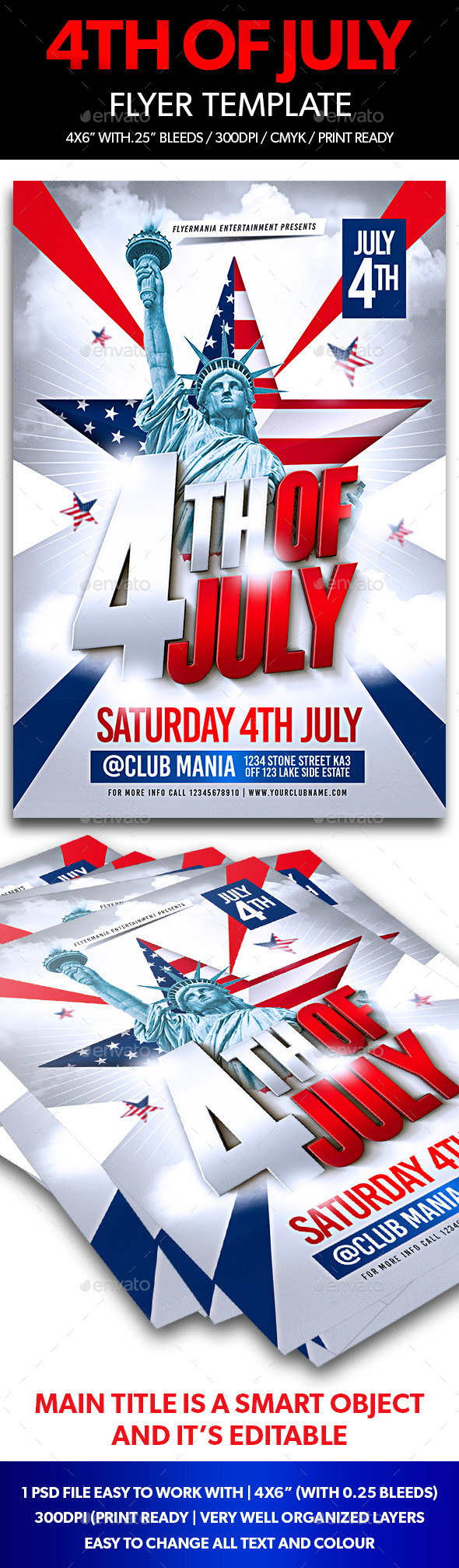 GraphicRiver 4th of July Flyer Template 11789178