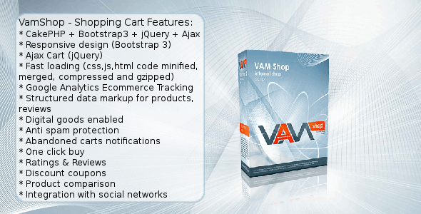 CodeCanyon VamShop Bootstrap & jQuery & Ajax PHP Cart 11789300
