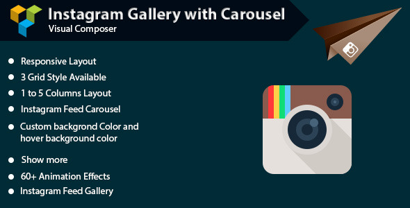 CodeCanyon Visual Composer Instagram Gallery with Carousel 11789303