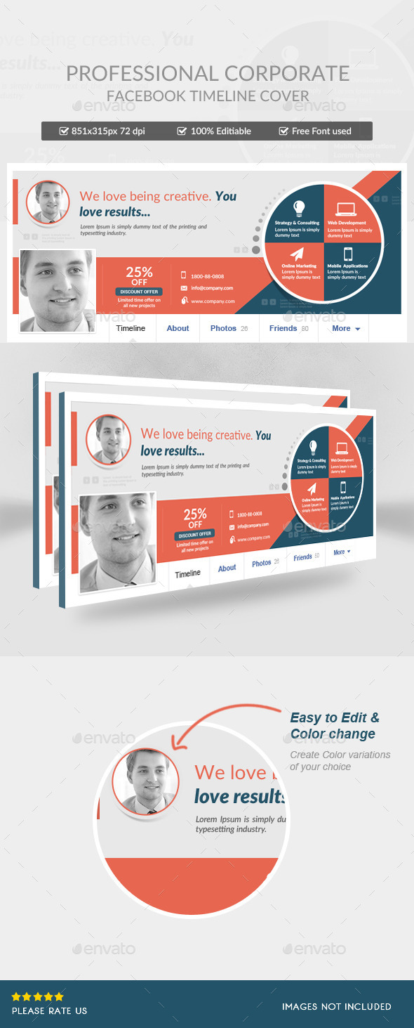 GraphicRiver Corporate Facebook Timeline Covers 11789460