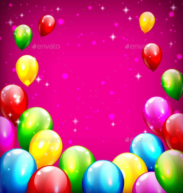 GraphicRiver Multicolored Inflatable Celebration Balloons 11789529
