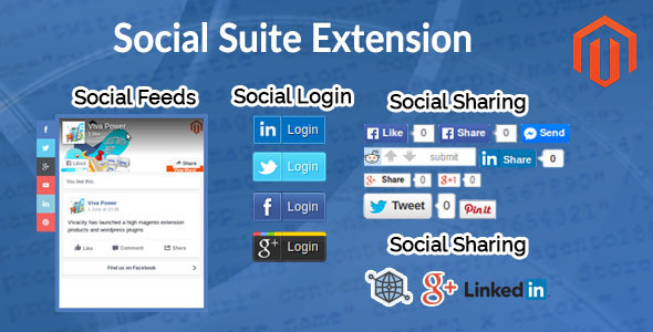 CodeCanyon Magento Social Suite Extension 11789540