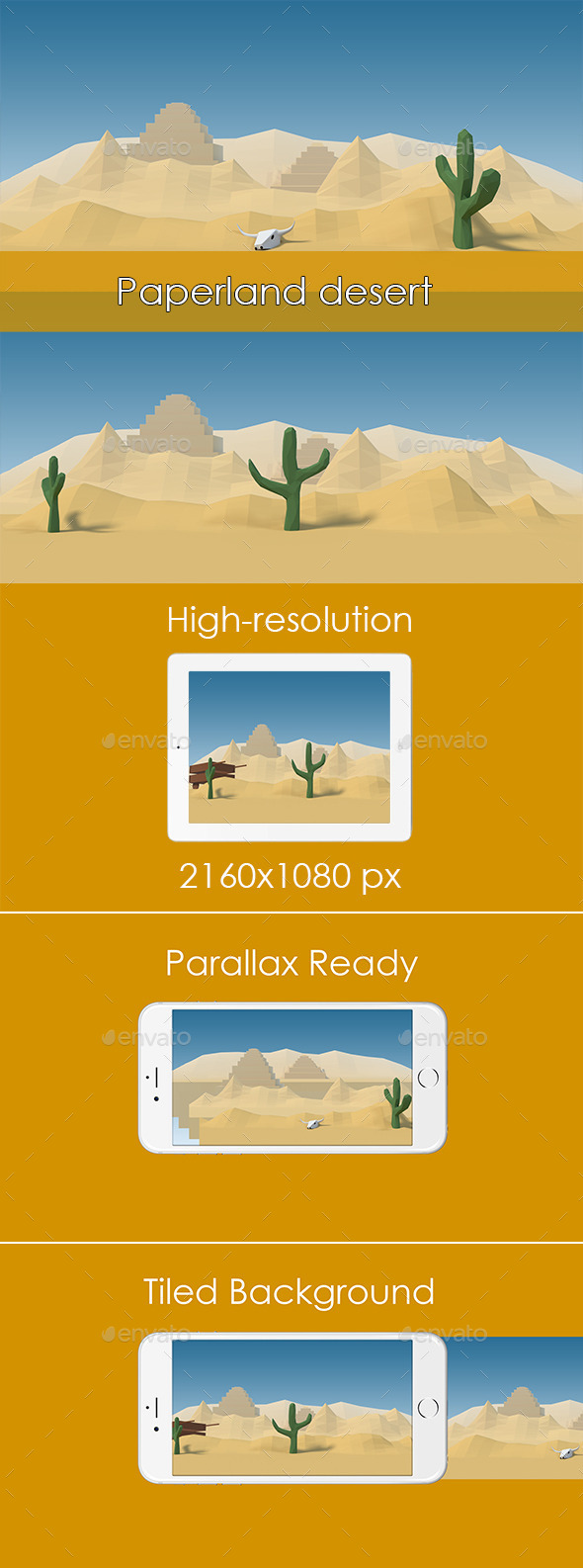 GraphicRiver Paperland Desert Game Background 11789577