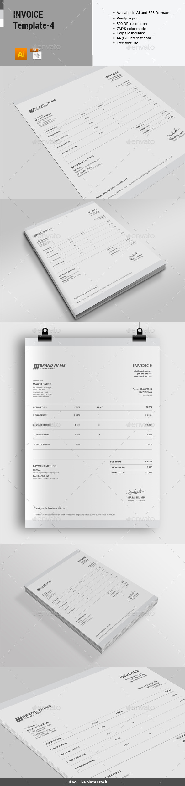 GraphicRiver Invoice Template 4 11789658