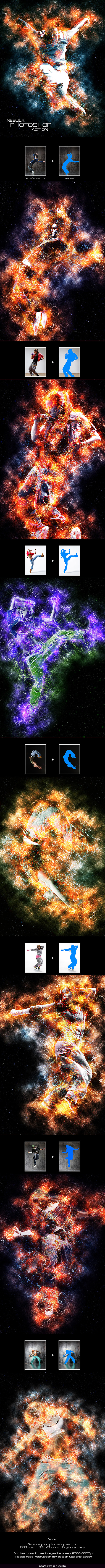 GraphicRiver Nebula Photoshop Action 11789670