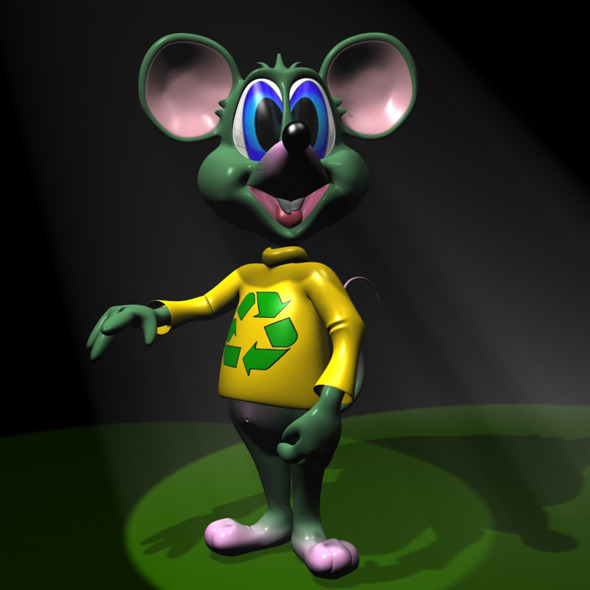 Green Mouse RIGGED - 3DOcean Item for Sale