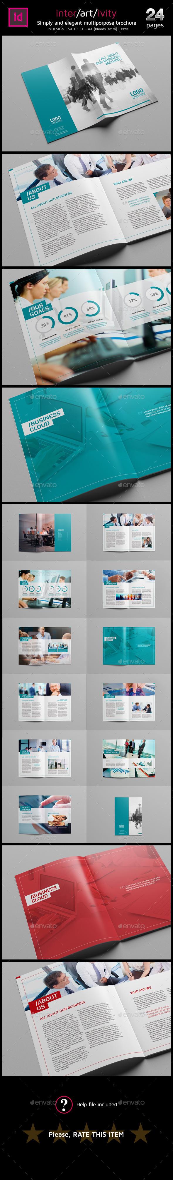 GraphicRiver Clean A4 multipurpose brochure 11790172