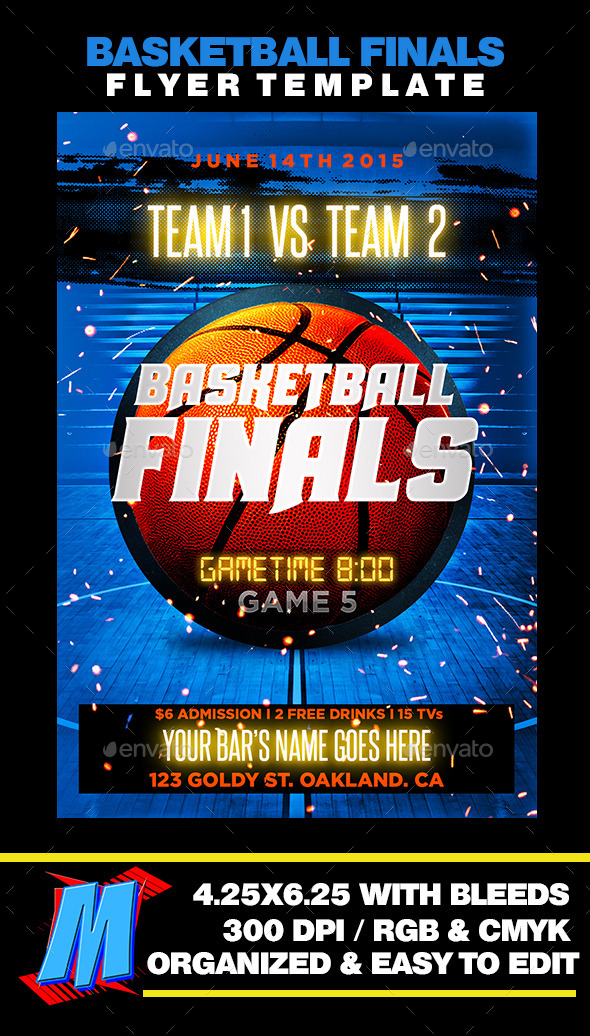 GraphicRiver Basketball Finals Flyer Template 11790217