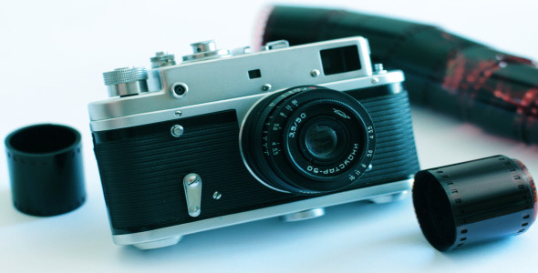 Old Camera On A White Background 3