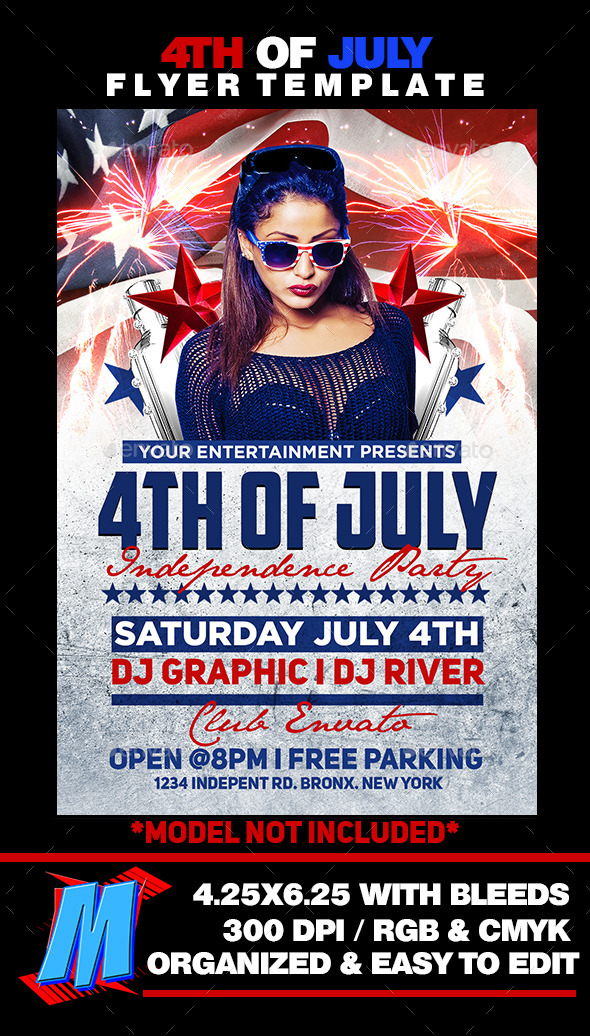 GraphicRiver 4th of July Flyer Template 11790357