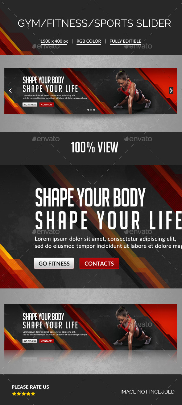 GraphicRiver Fitness Slider 11790417