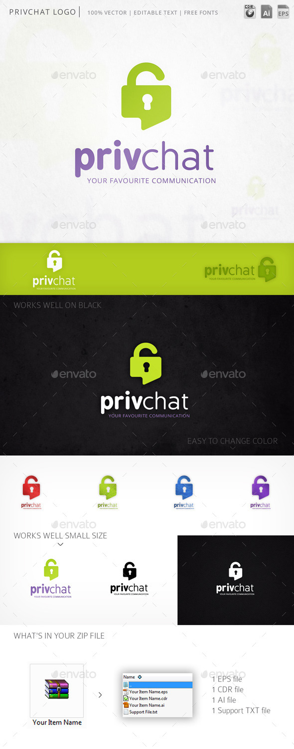 GraphicRiver Privchat Logo 11790843