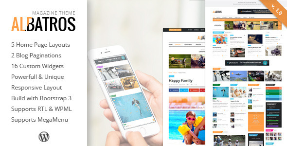 ThemeForest Albatros WordPress Magazine Theme 11729743