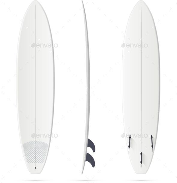 GraphicRiver White Surfing Board Template Mini-malibu 11791636