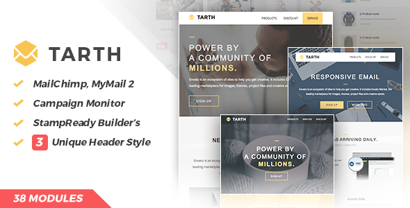 ThemeForest Tarth Marketing Email 11792159