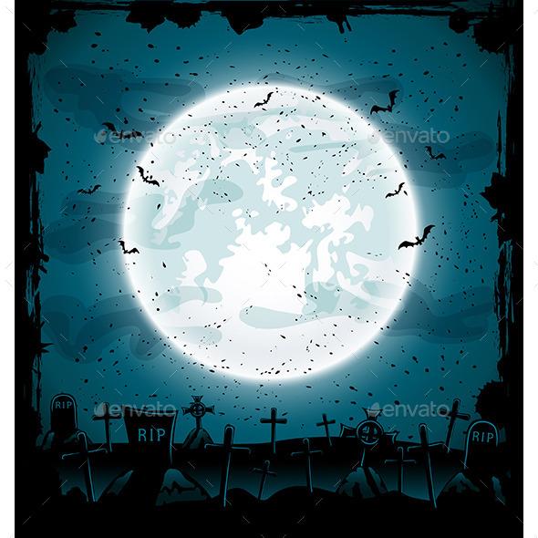 GraphicRiver Halloween Cemetery 11792907